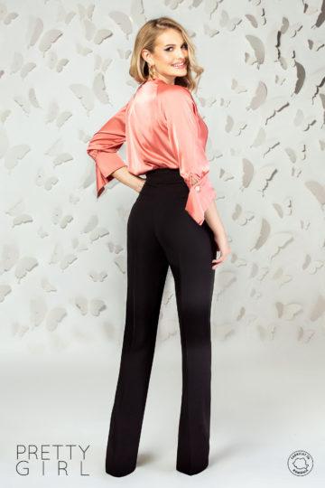 Bluză petrecută somon cu manșete oversize
