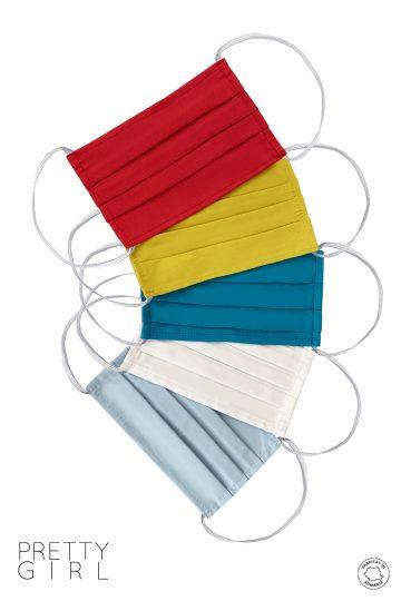 Set 5 măști textile reutilizabile colorate
